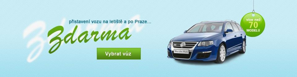 Autopůjčovna West Car Praha nabízí přistaveni vozu po Praze zdarma